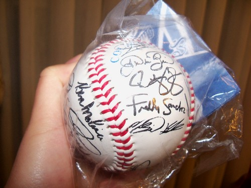 team autographed ball